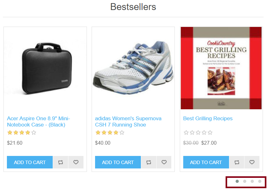 jCarousel Home page Best Sellers for nopCommerce