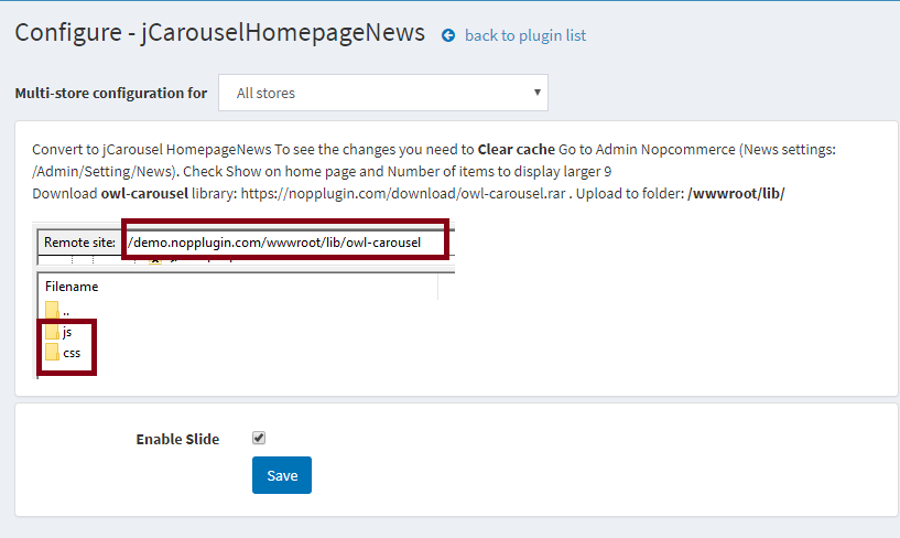 jCarousel Home page News for nopCommerce