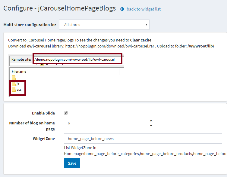 jCarousel Home page Blogs for nopCommerce