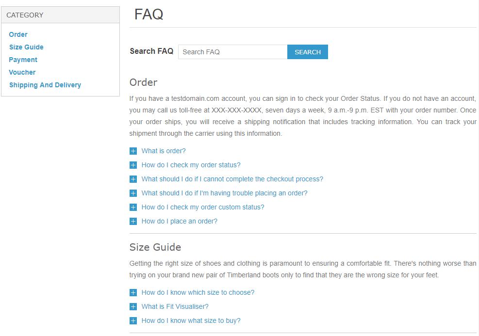 Advanced FAQ Plugin for Nopcommerce