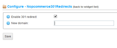Nopcommerce  301 Page Redirect