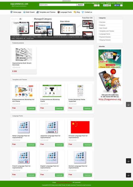 Picture of E-Nopcommerces Bootstrap theme (Desktop,mobile,table)