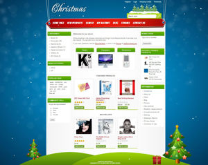 Picture of Christmas template for nopcommerce