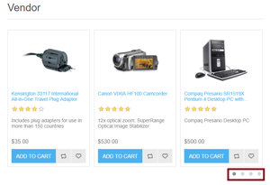 Picture of Show Vendors with products on Home page